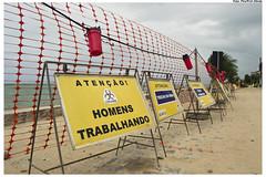 Obras de Urbanização e Revitalização da Orla de Rio Doce. Foto: Pire/Pref.Olinda