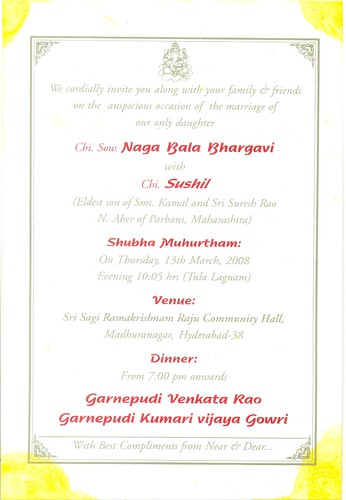Wedding Invitation English version