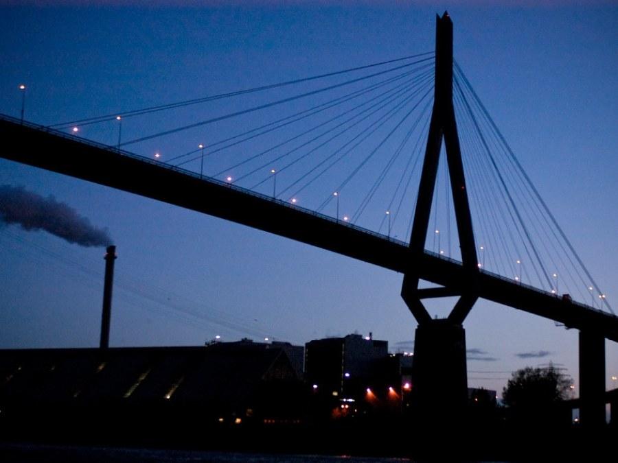 9 Bruggen in Hamburg, Köhlbrandbrücke, foto door Max01   Standort Hamburg