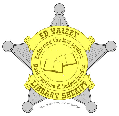 Ed Vaizey's Unused Sheriff Badge