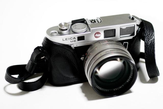 camera porn - Leica M6 TTL, Konica M Hexanon Limited 50mm f1.2, Luigi finest grade hand sewn case