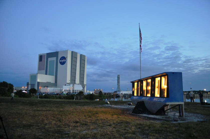 VAB & Countdown Clock, Kennedy Space Center, May 16, 2011