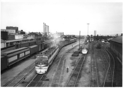 Texas & Pacific Westerner departing Texarkana in 1950