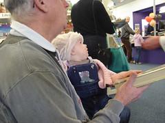 Sabrina and Grandad at Hornby Library