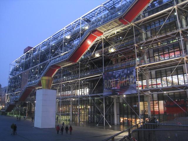 The exterior of the Pompidou Museum