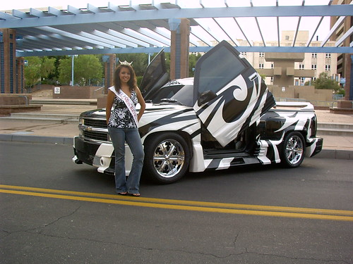 """Joan Marie with Cool Truck by """"Miss New Mexico 2008"""" ~ Joan Marie"""