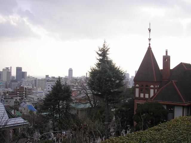 View from Kitano Tenman Shrine, Kitano, Kobe, 30th December 2008