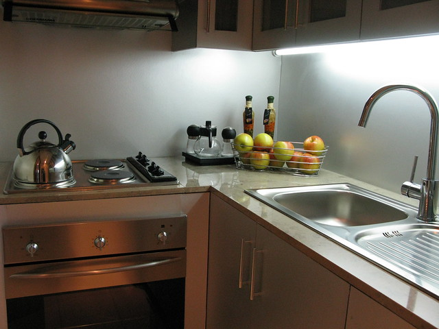 Kitchen in the model unit