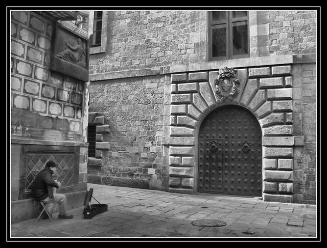 Street Musician por Andrew E. Larsen