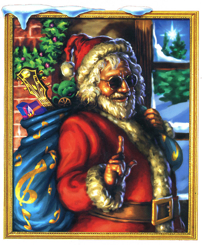 Jerry Garcia Of The Grateful Dead Santa Claus Merry Christmas Flickr Photo Sharing