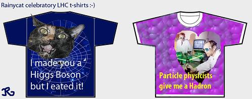 Rainycat celebratory LHC t-shirt designs!