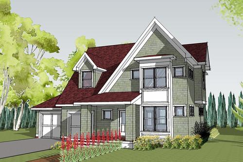 Hastings Cottage House Plan Rendering