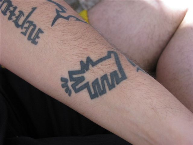 Keith Haring Style Tattoo 7