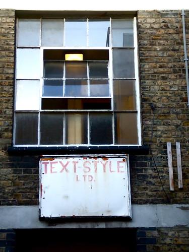 Text-Style, off Brick Lane, East London