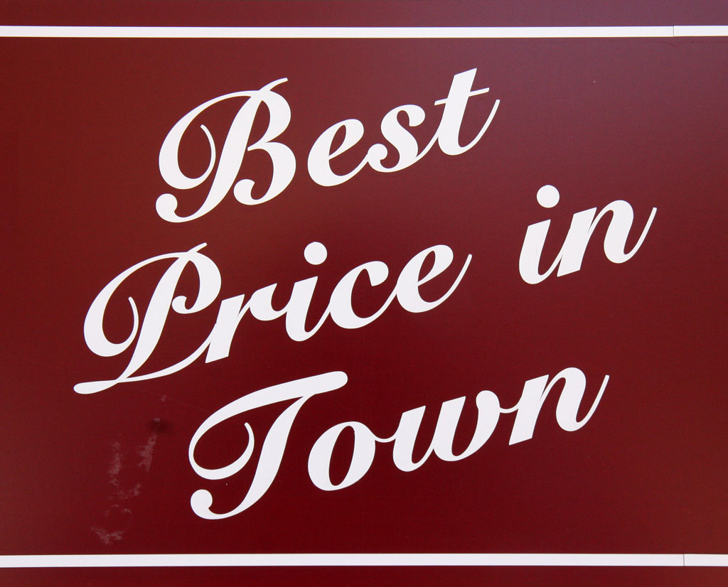 Best Price in Town font style