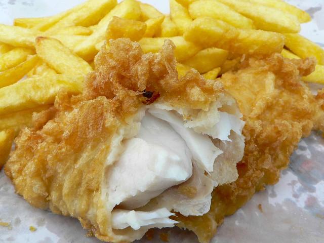 Fish and chips at Kaiaua
