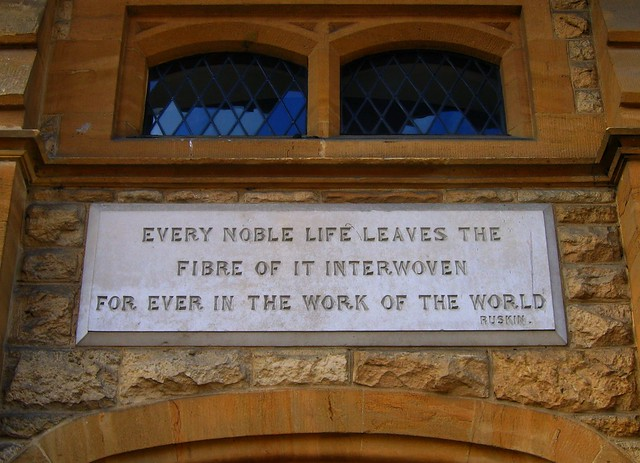 A Thought for Sunday from John Ruskin, by UGArdener, used under Creative Commons. Click pic for link.