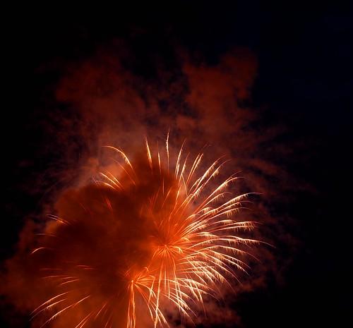 Smoke Cloud and Fireworks