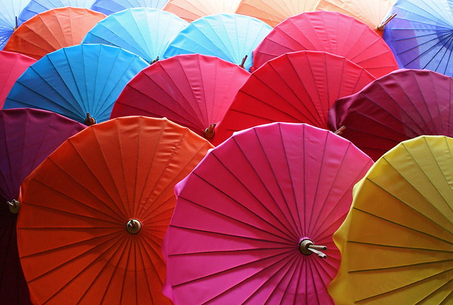 Umbrellas by Jethro Taylor (CC)