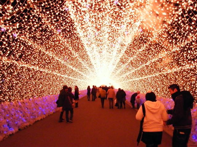 Light tunnel at Nabana no sato