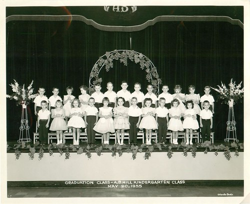 AB Hill 1955 -Kindergarten Graduation by joespake