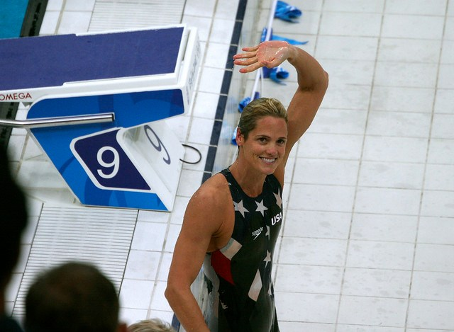 Dara Torres, after winning the silver