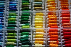 Organized embroidery floss