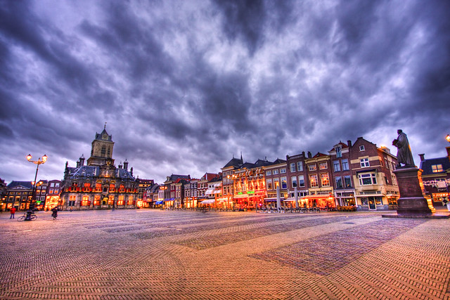 """""""De Markt"""", Delft (HDR)"""