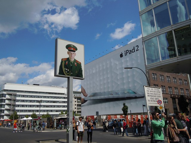 Checkpoint Charlie and an iPad2 ad