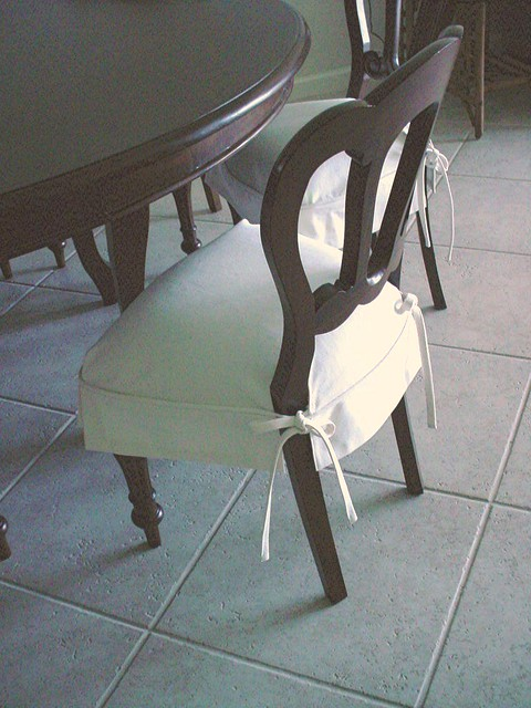 DINING CHAIR WITH SKIRT Chair Pads Amp Cushions