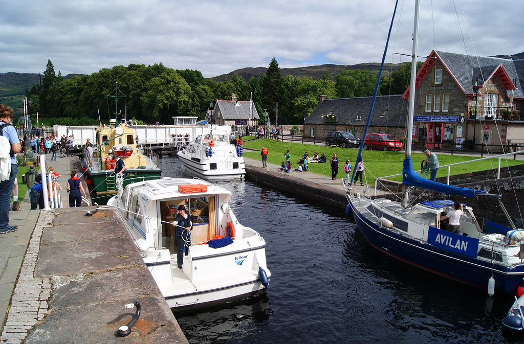 Lock on the Caledonian Canal