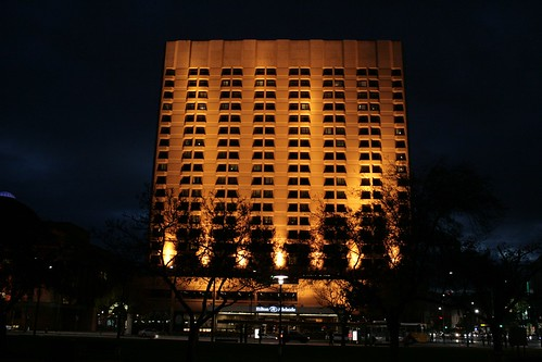 Adelaide Hilton By Night