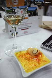 Muscat de Rivesaltes with Lemon Almond Creme Catalane