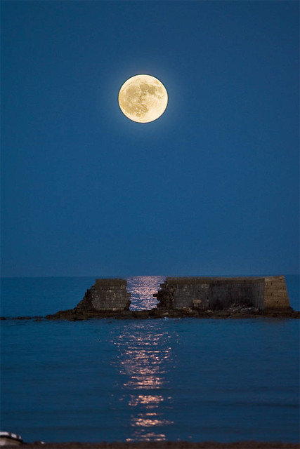 moonlight in San Cataldo - Lecce, Salento, Italia