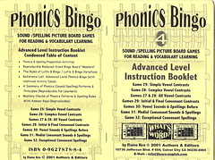 English Phonics Bingo Game - Vocabulary, Reading, Spelling, Learning - level 4 by authors&editors