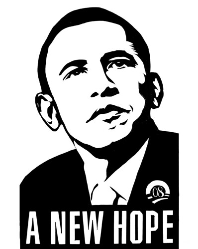 OBAMA - A NEW HOPE Poster