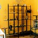 derek dominy's custom made shelving from recycled iron
