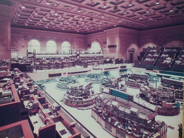 The Old American Stock Exchange Trading Floor Ca 1980s