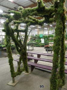 natural mossy wedding arch