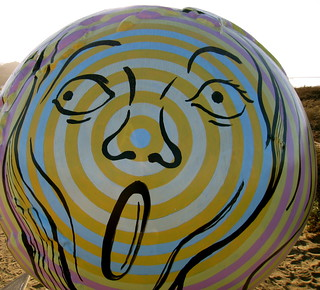 """""""First We Scream, Then We Act"""" by Nancy Steinmeyer (Cool Globes)"""