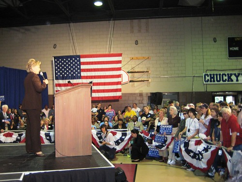 Sen. Hillary Clinton Campaigned for Barack Obama in Winter Park, Fla., Sat., Nov. 1, 2008