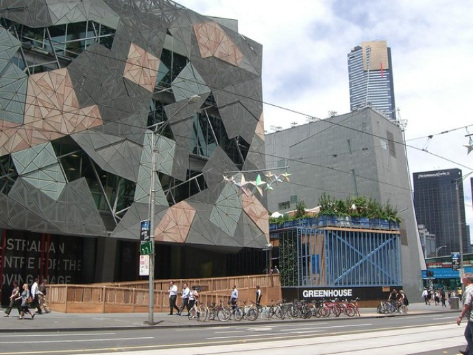 Photo of Federation square in Melbourne