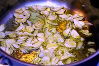garlic, becoming chips