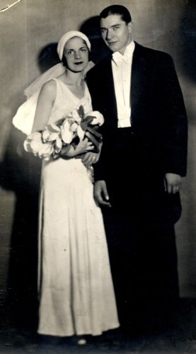 My Grandmother And Grandfather On Their Wedding Day