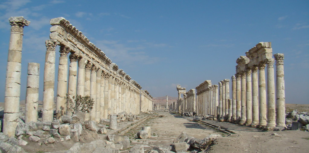 Siria Apamea Cardo Maximus vista panoramica 40