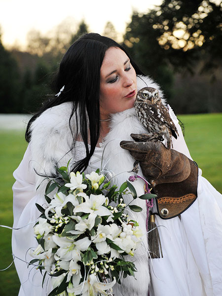 This winters hottest wedding accessory Literally put a bird on it