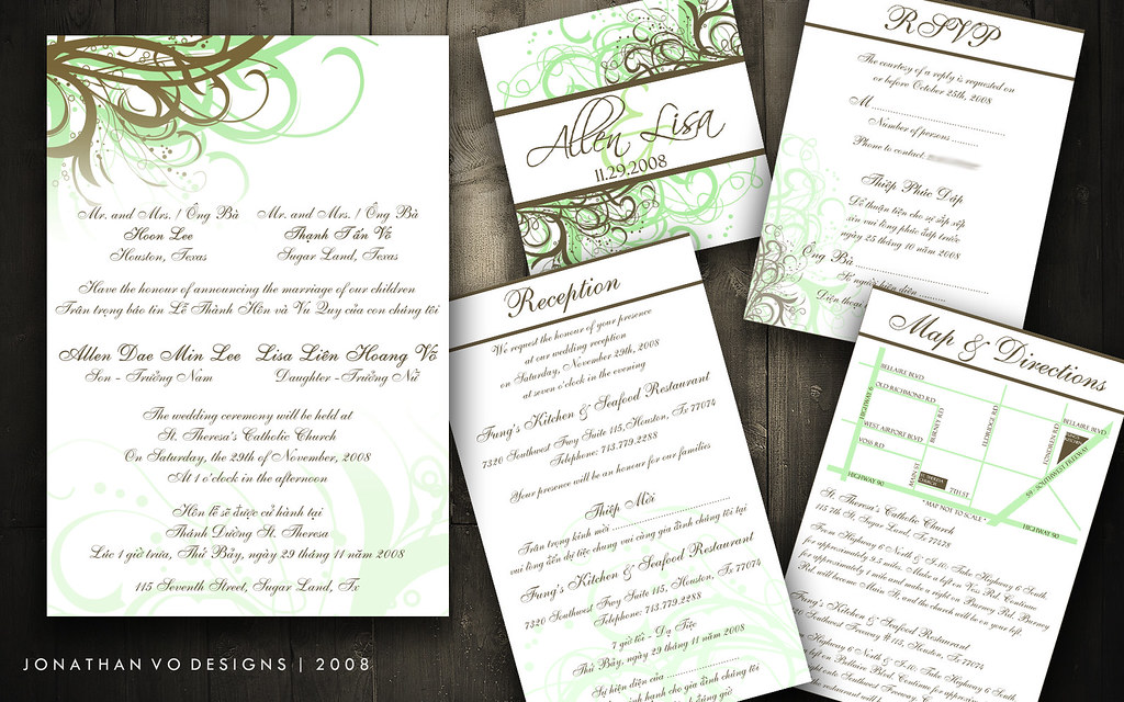All One Wedding Invitations