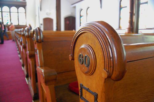 Greenstone Church pews
