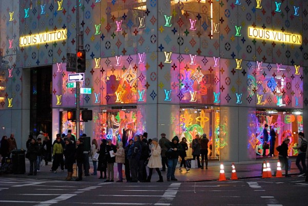 Louis Vuitton Flagship store, New York City, Christmas ...