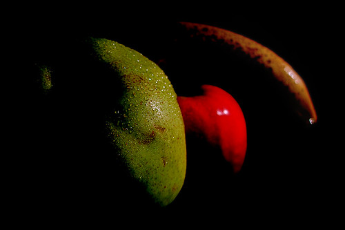pear, apple & banana [smartphone wallpaper]